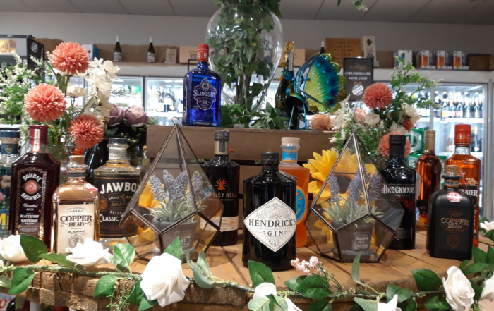Selection of Gins available at Mulkerns