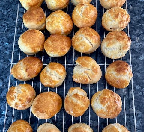 Lemonade Scones on Cooling Rack