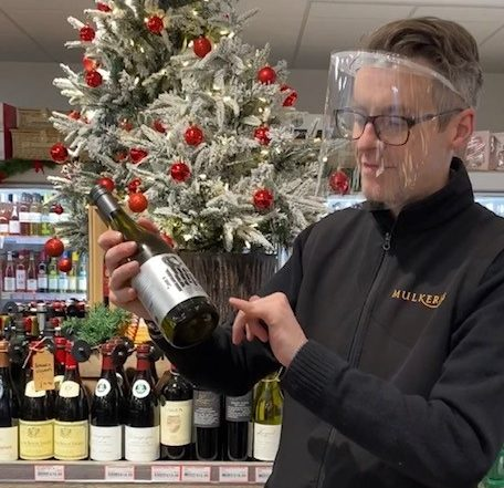 Shane with The Jumper Wine of the Week in our In Store Off Sales
