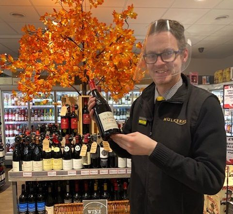 Shane with La Chasse, Wine of the Week in our in store Off Sales