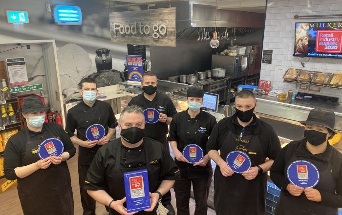 Mulkerns Food To Go Team with their Retail Industry Award