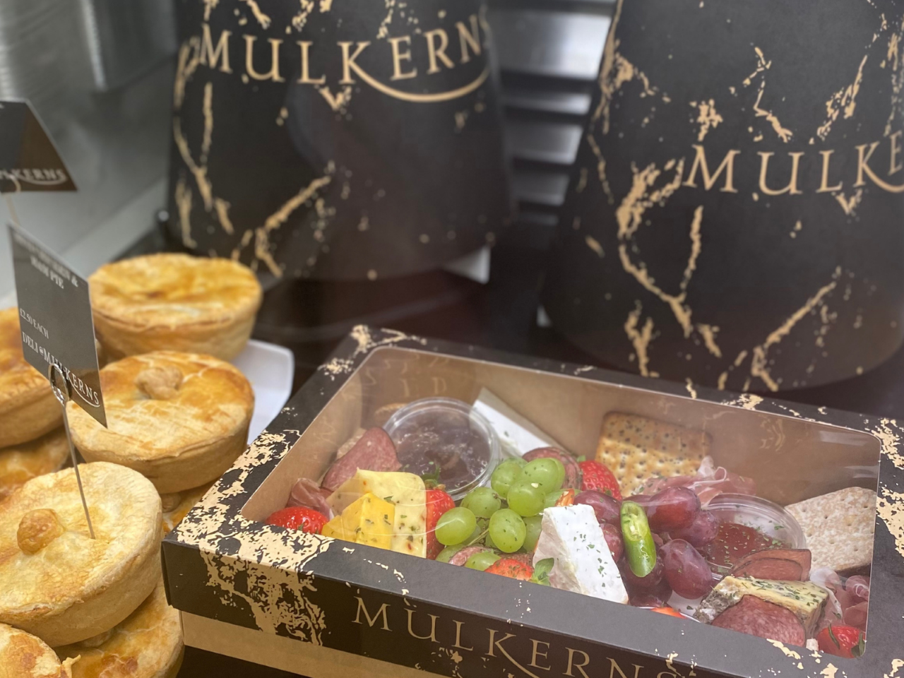 Cheese and Charcuterie Platter and Afternoon Tea Caddy